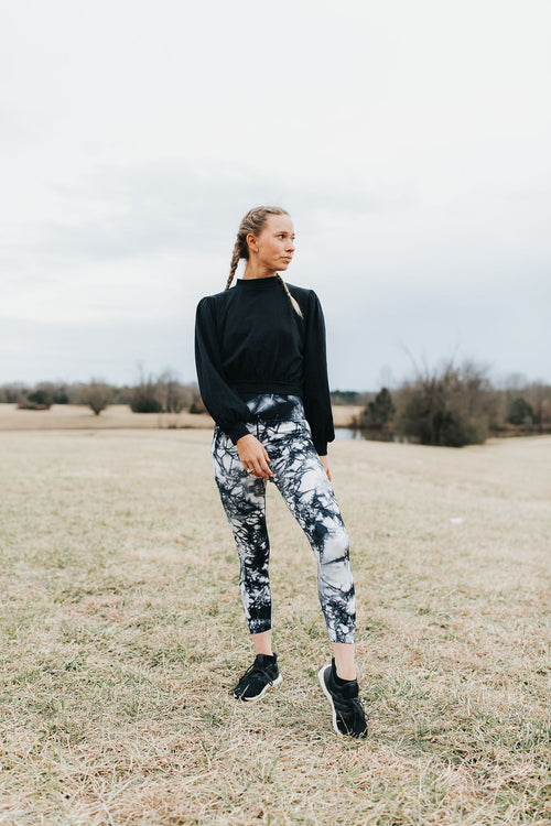 Jacie Tye Dye Leggings - Navy