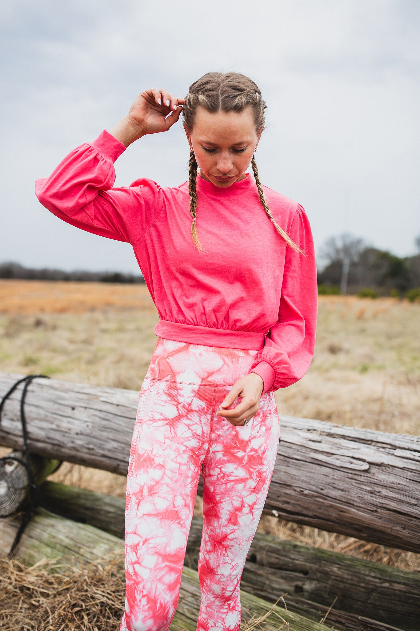 Casandra Cropped Pullover - Coral