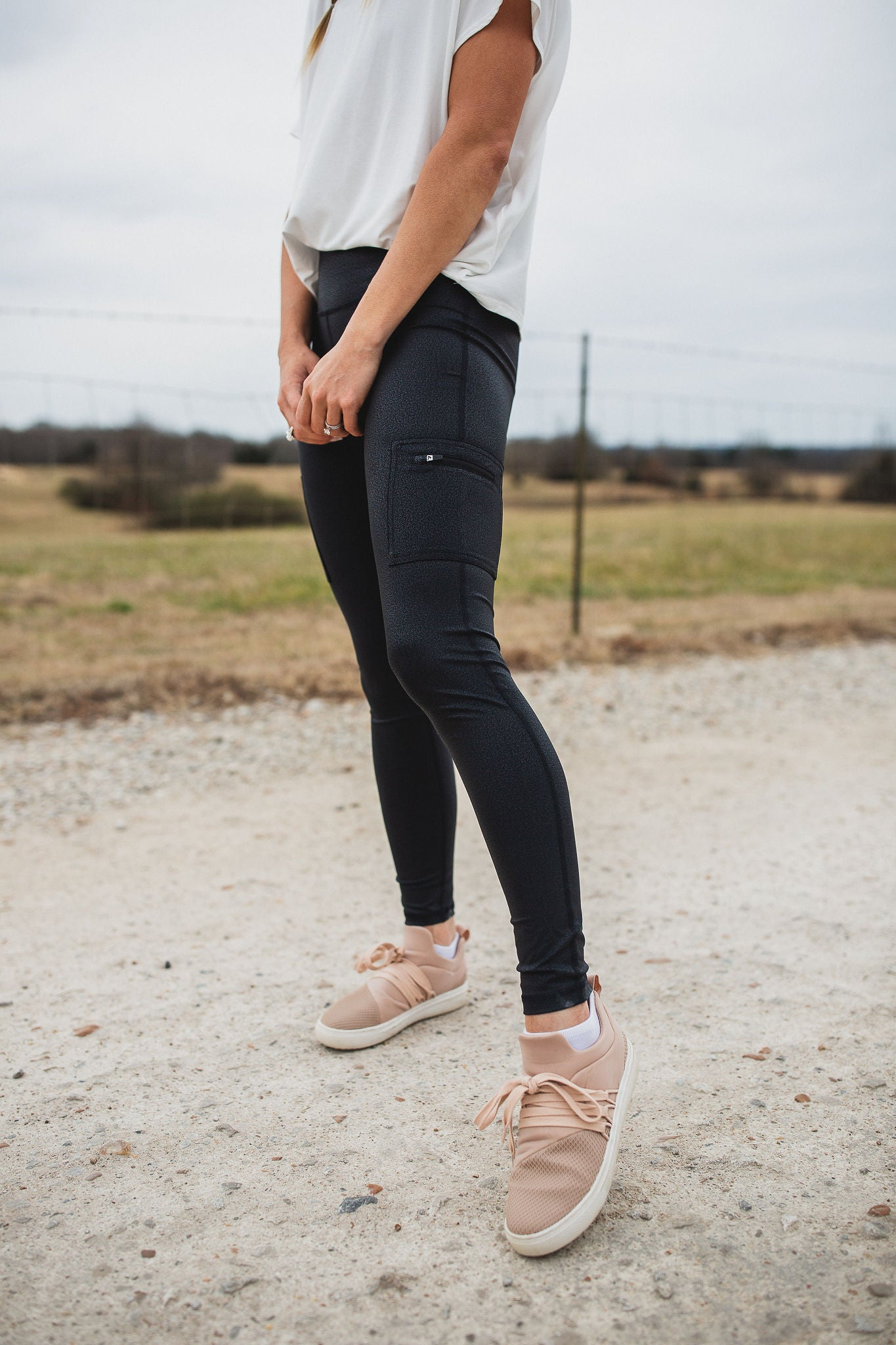 Fawn Faux Leather Leggings