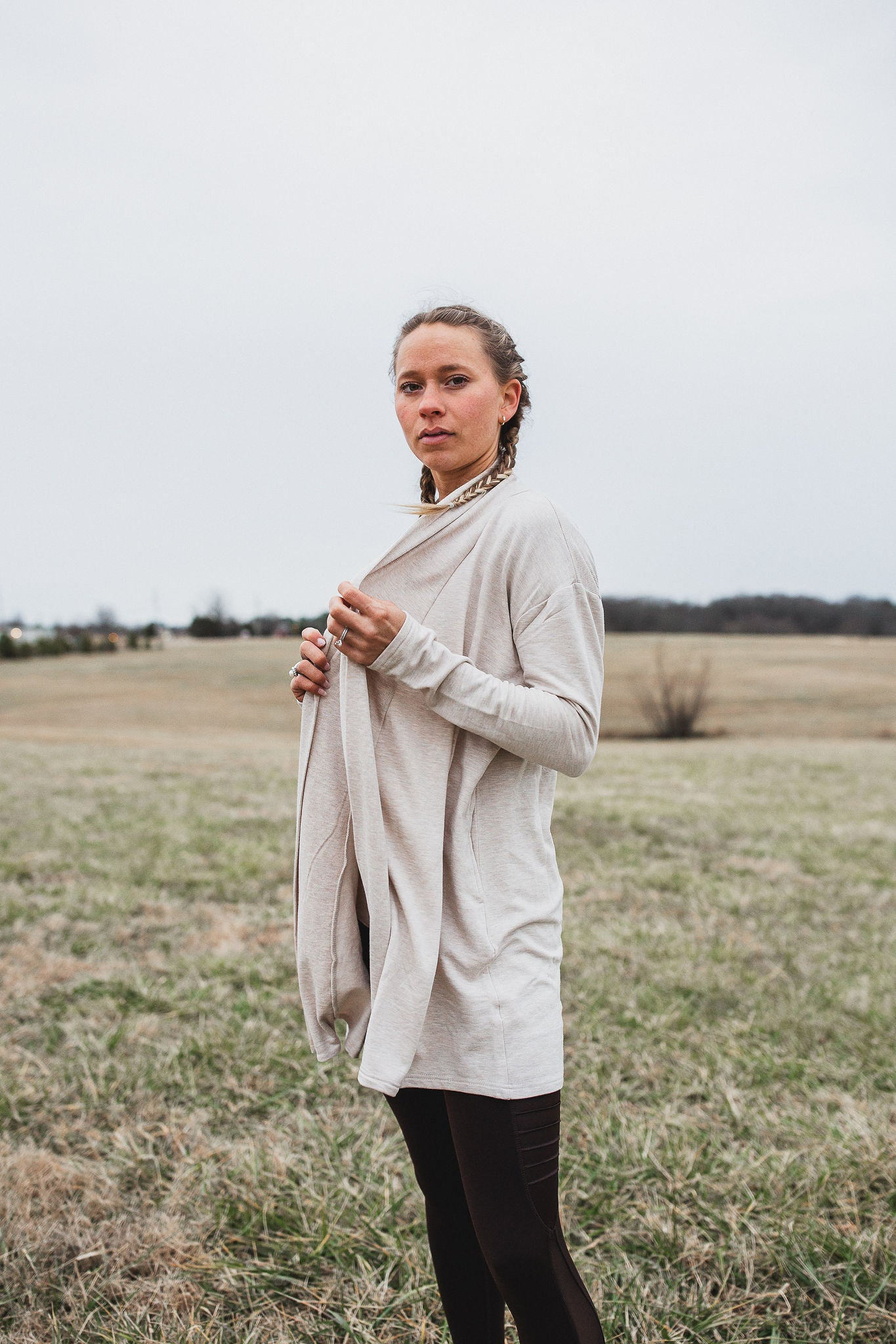 Lacey Longline Cardigan - Oatmeal