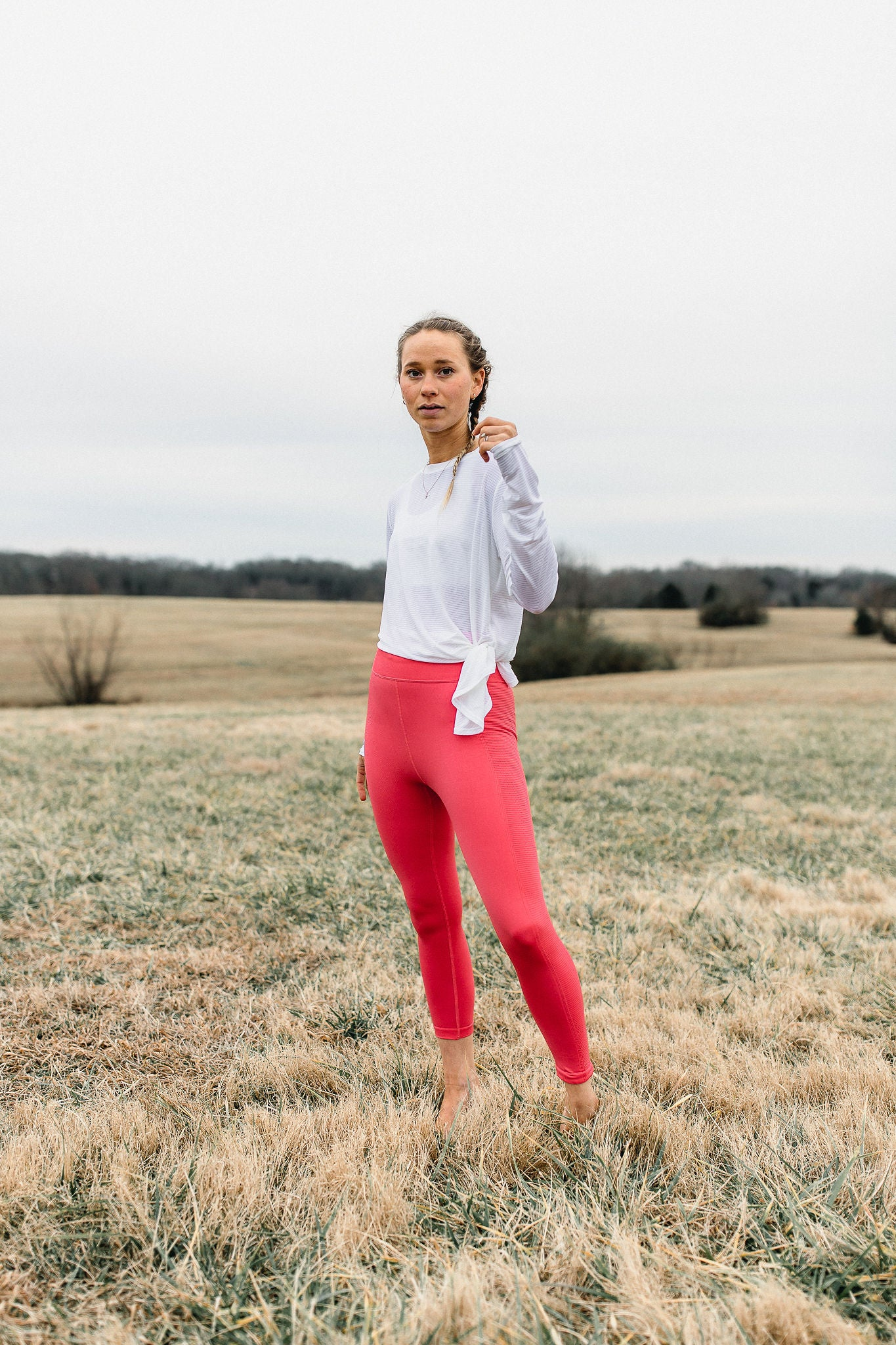 Ready To Go Seamless Leggings - Coral