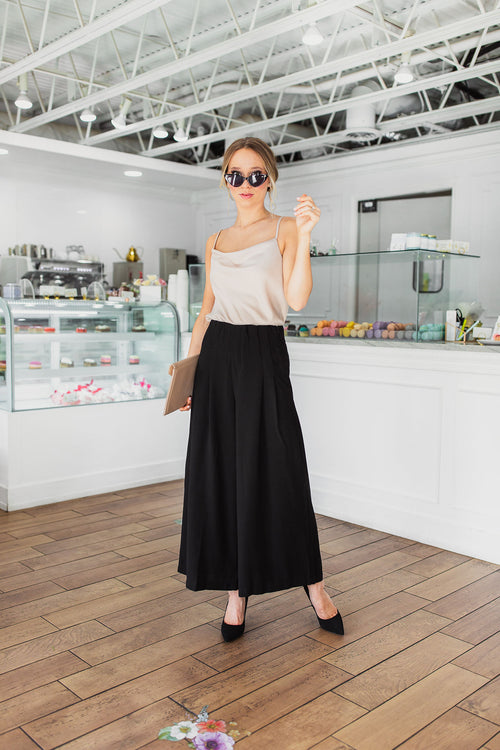 Moi Wide Pants - Black