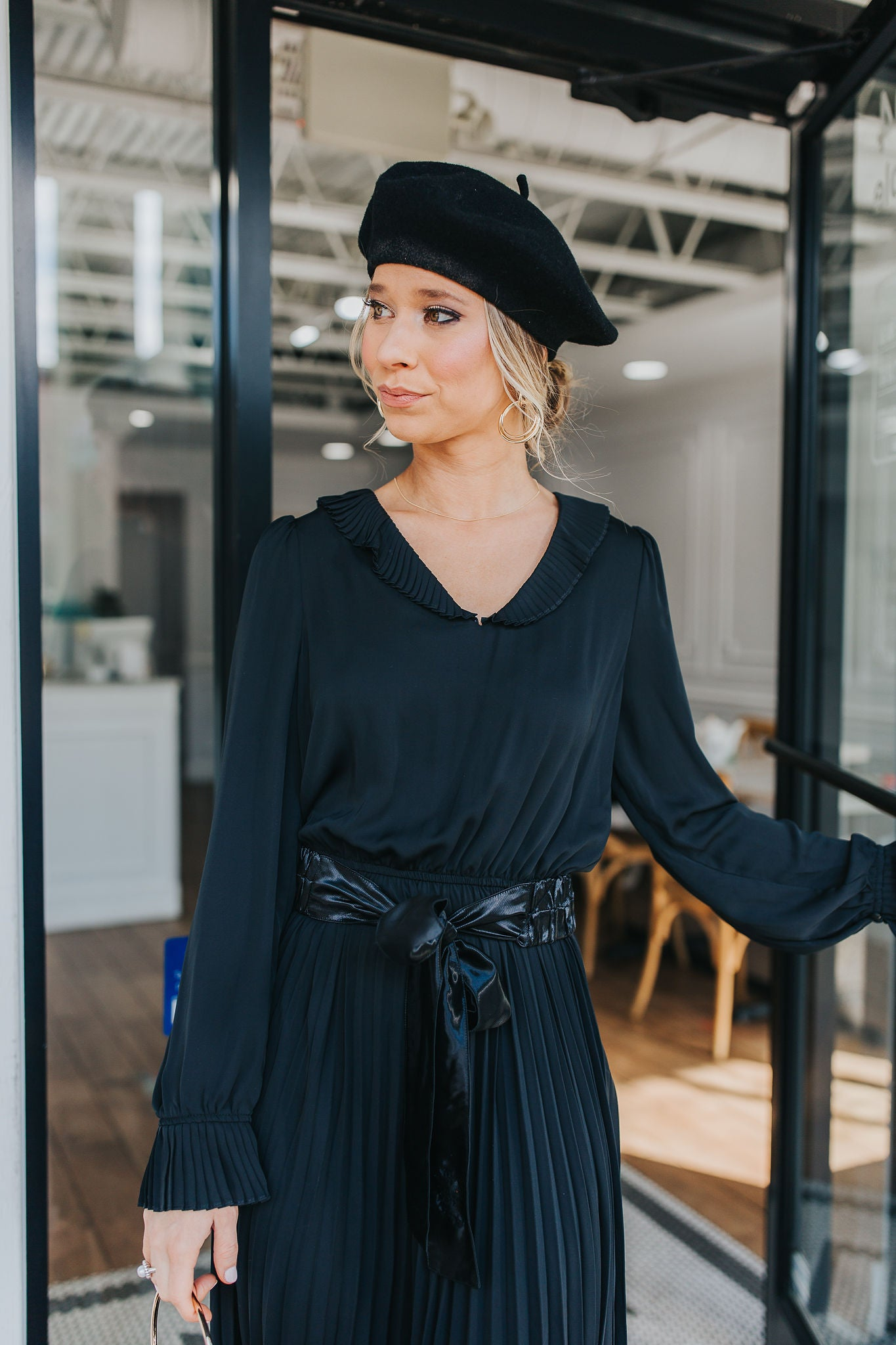 When In Paris Pleated Dress