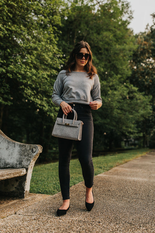 Grey Paperbag Pants