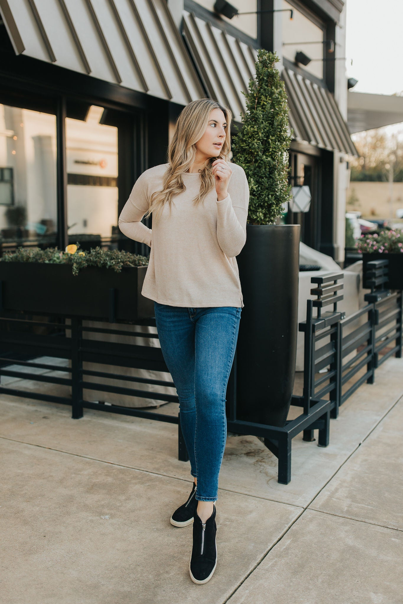 Elodie Simple Sweater - Oatmeal