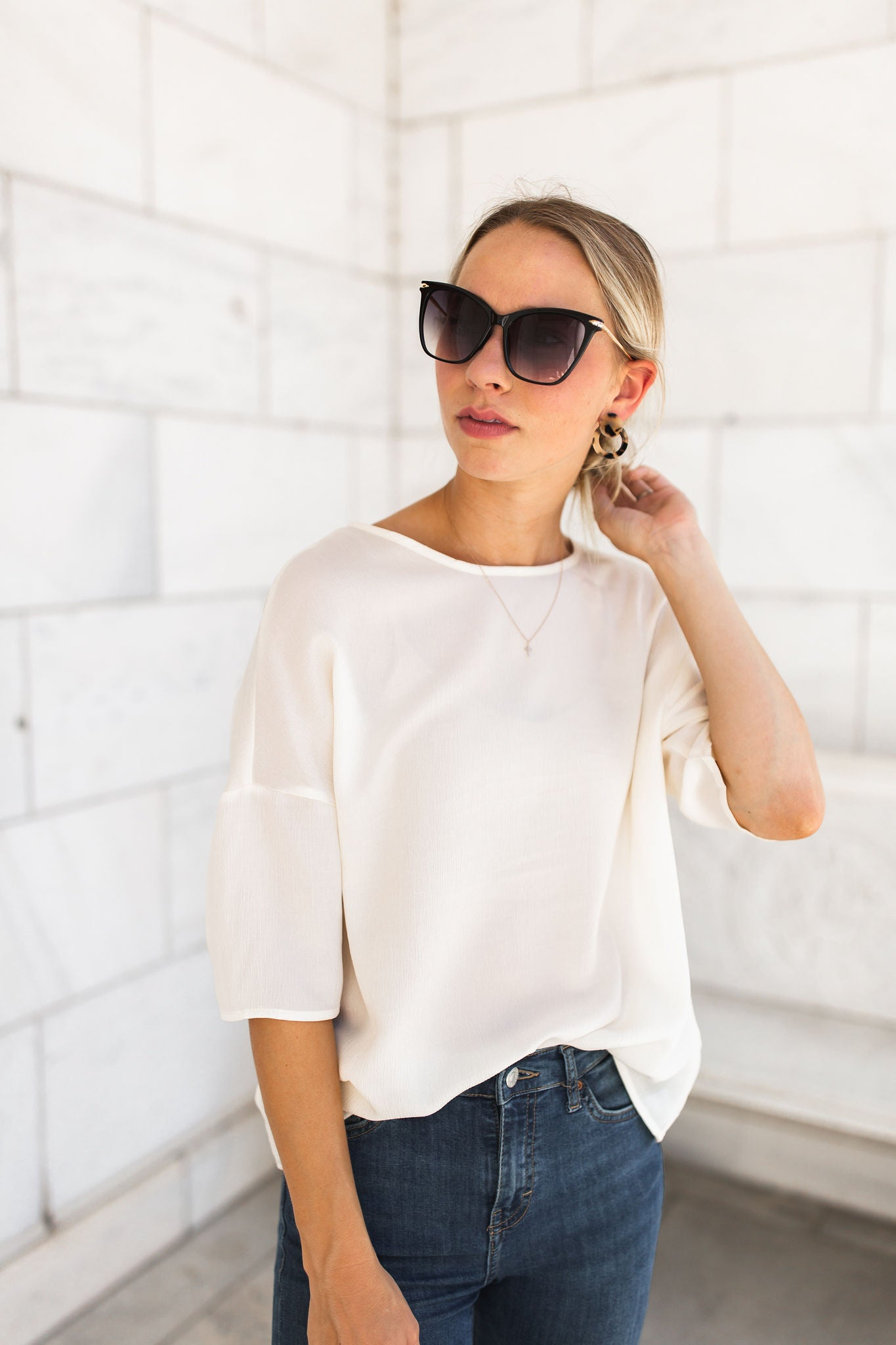 Cafe Blouse - Ivory