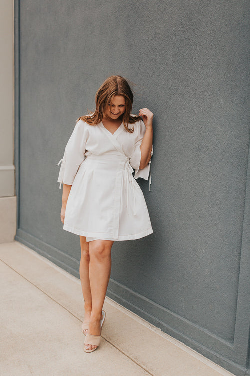 Aline Wrap Mini Dress