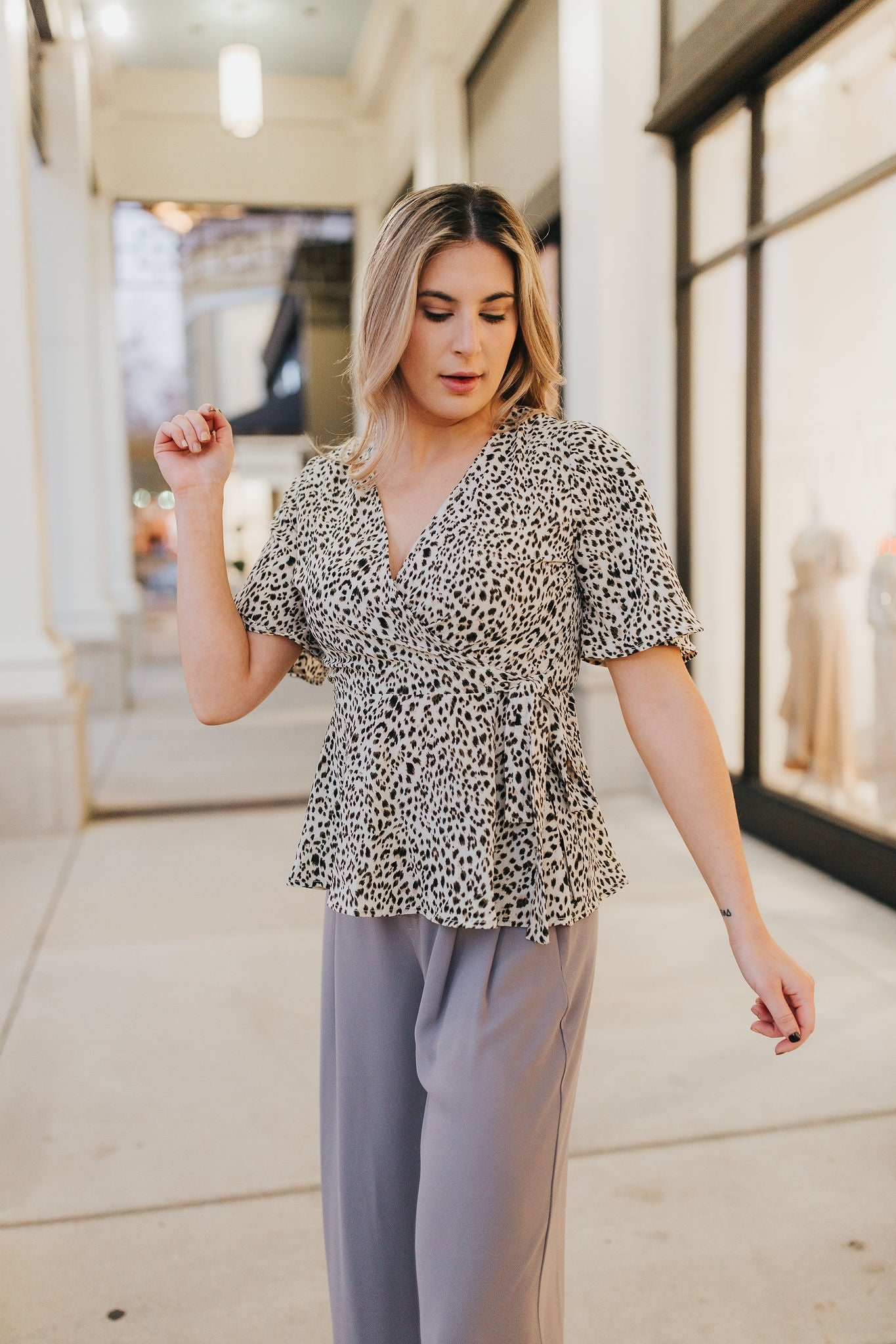 Tamed Wrap Blouse