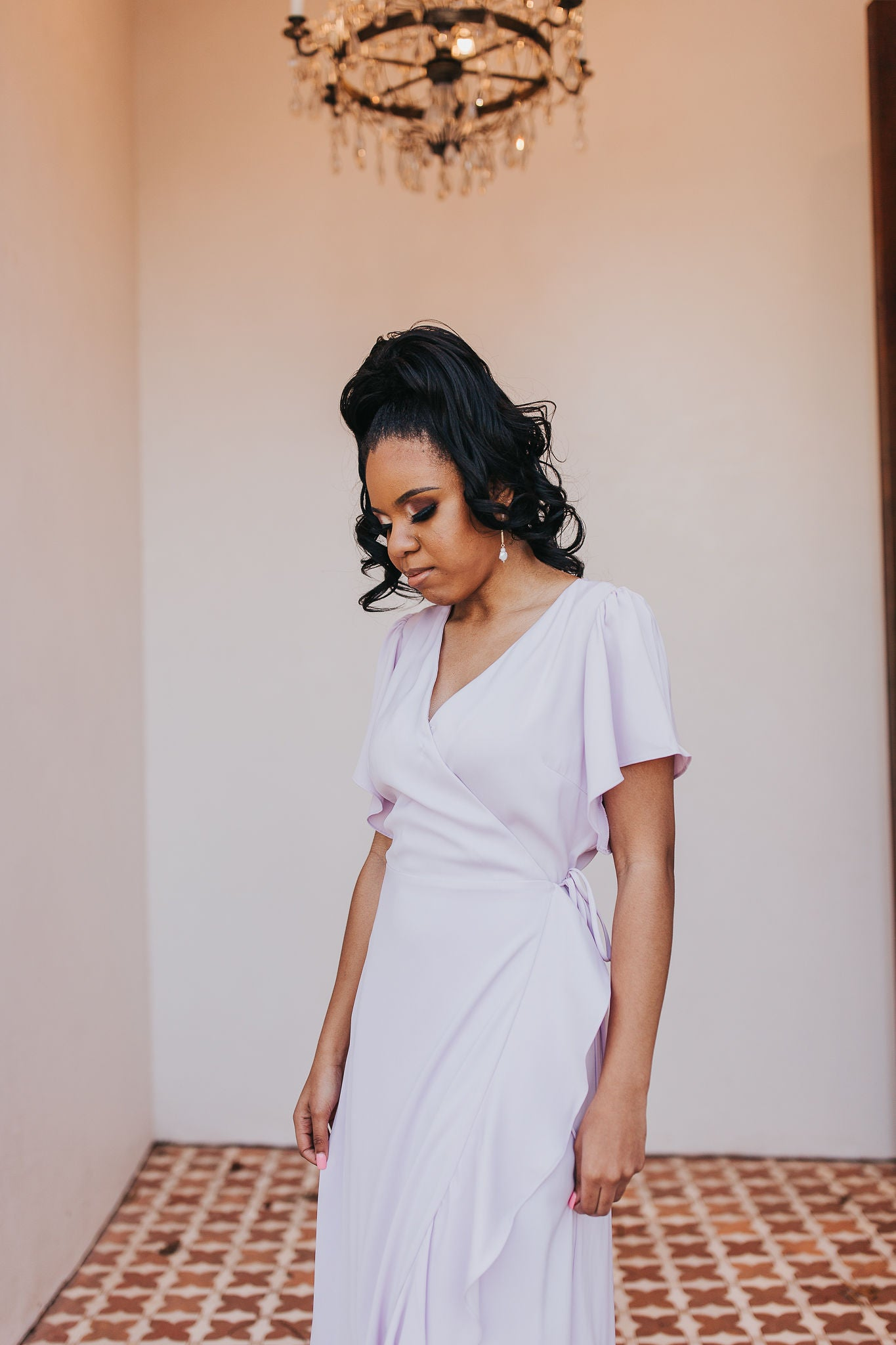 Lovely Lavender Midi Dress