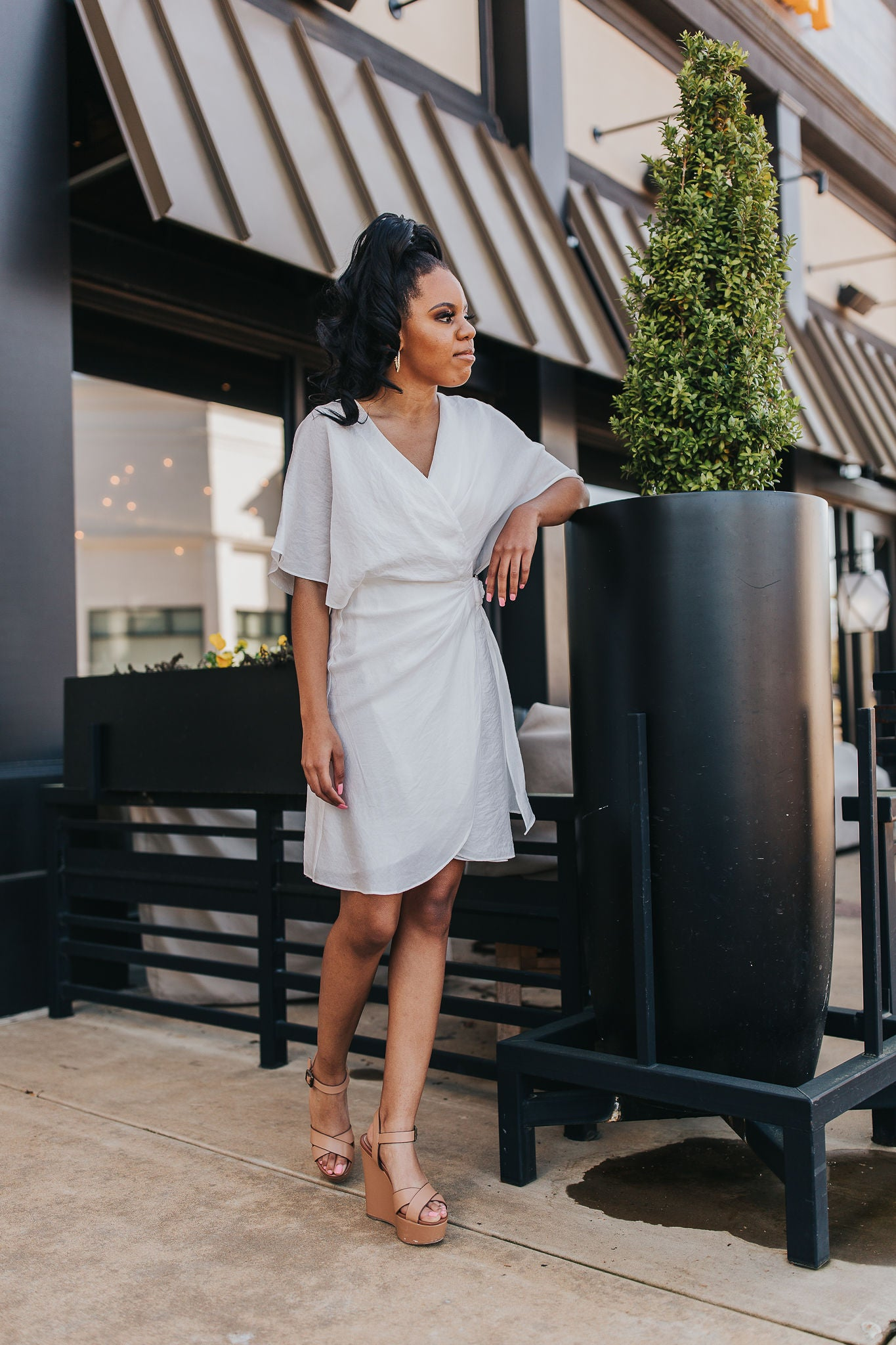 Kellan Wrap Dress - White