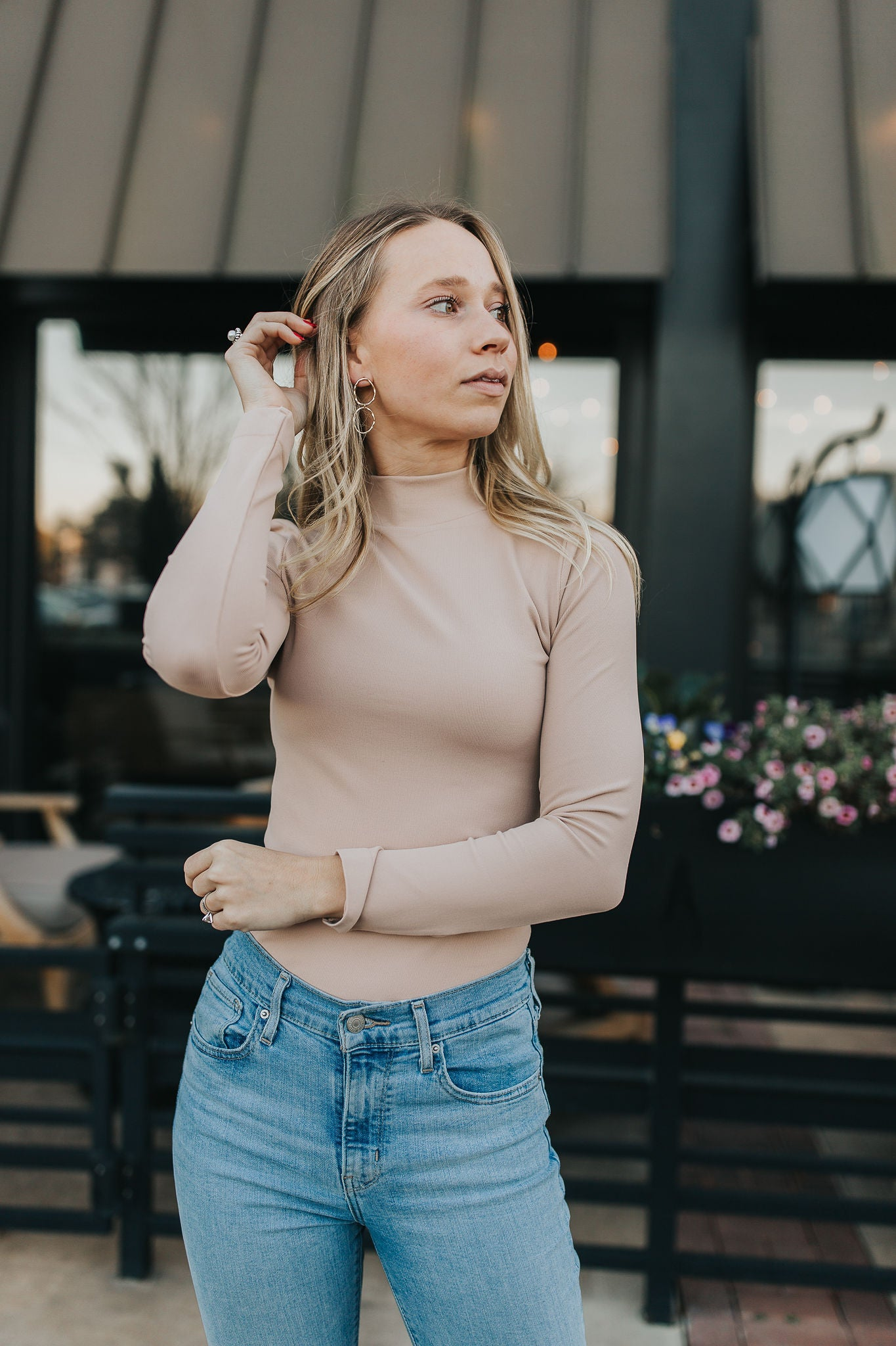 Hannah Long Sleeve Turtleneck - Latte