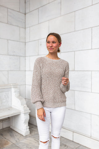 Evie Ruffle Light Sweater