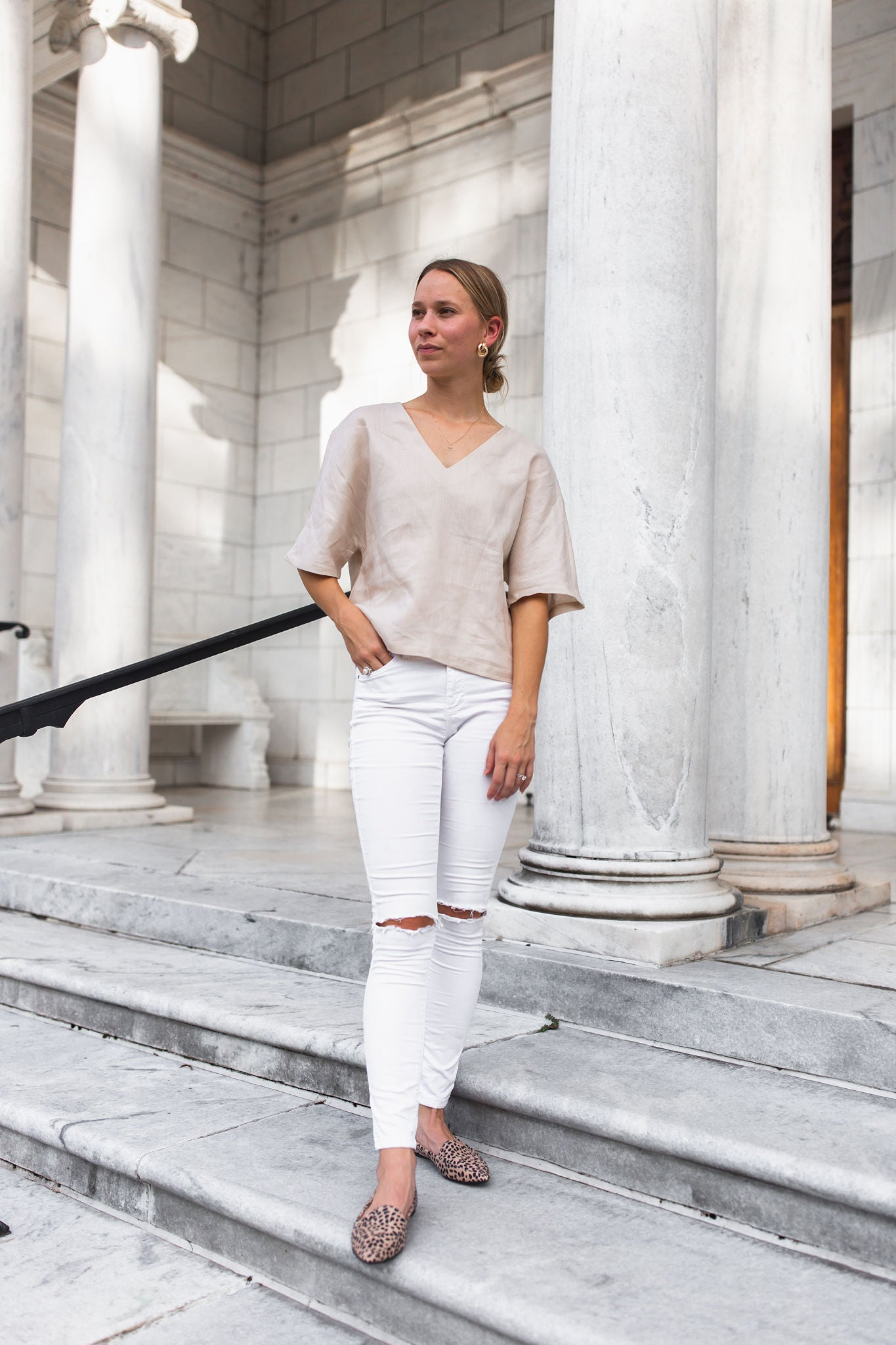 Sandy Linen Blouse