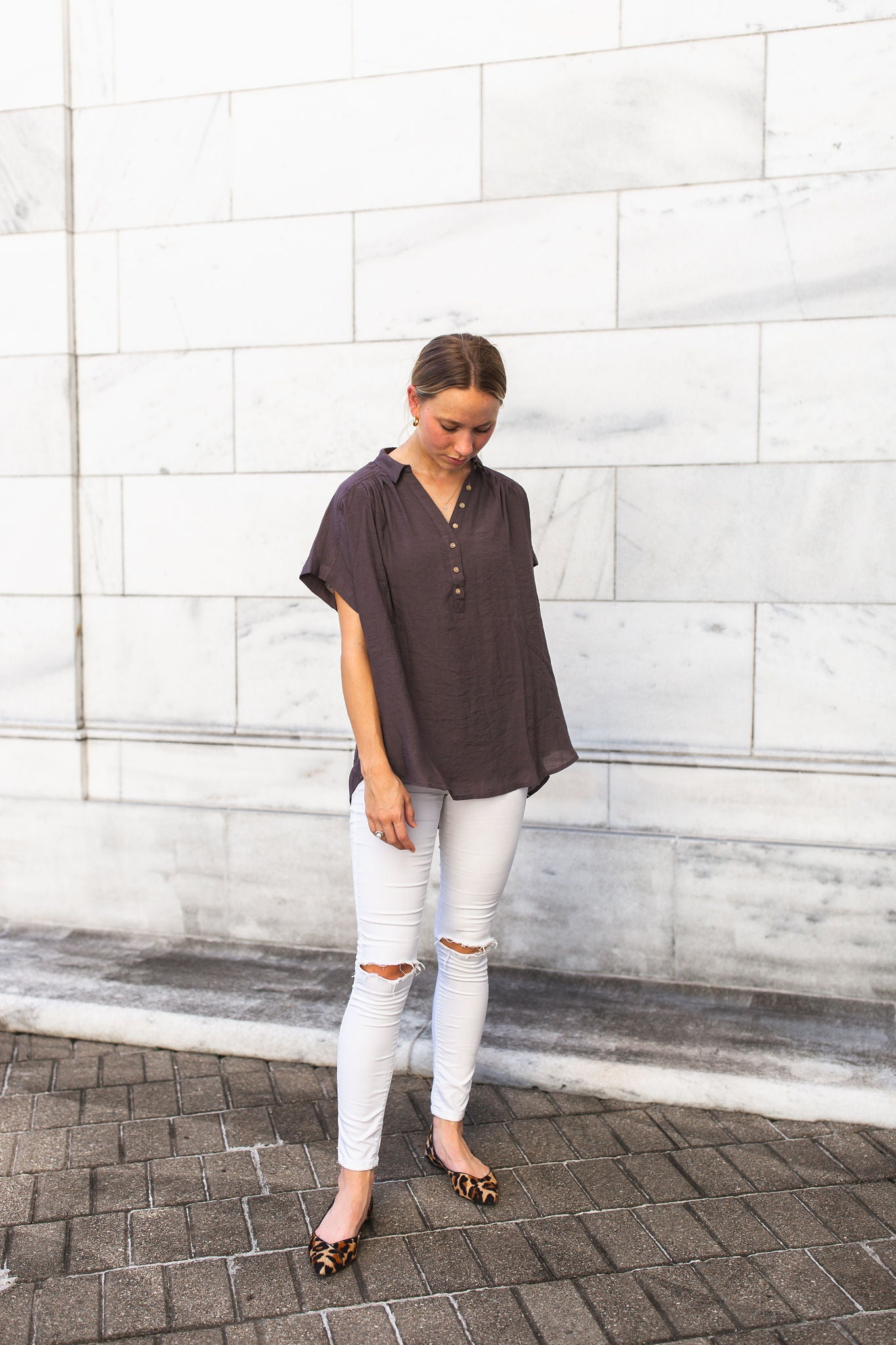 Hailey Relaxed Top - Ash