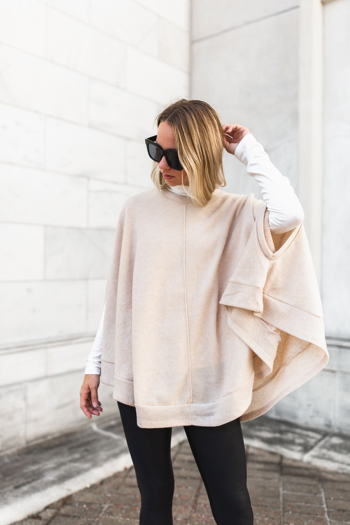 Kirby Brushed Poncho