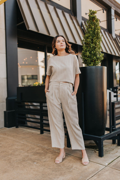 Sawyer Striped High Waisted Pant