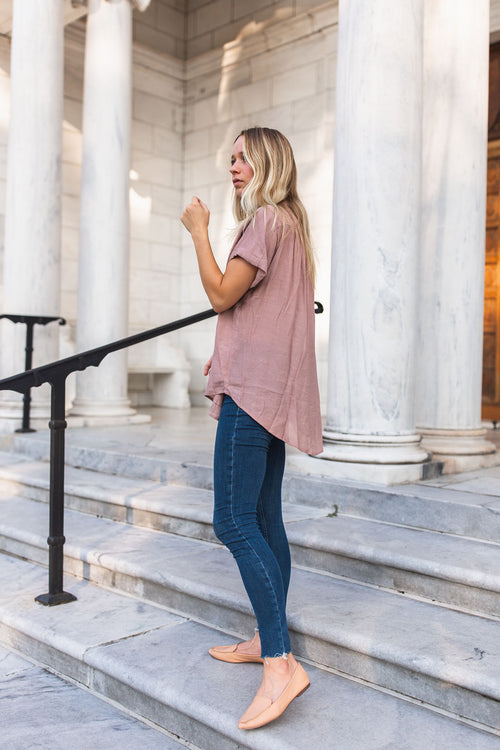 Hailey Relaxed Top - Mauve