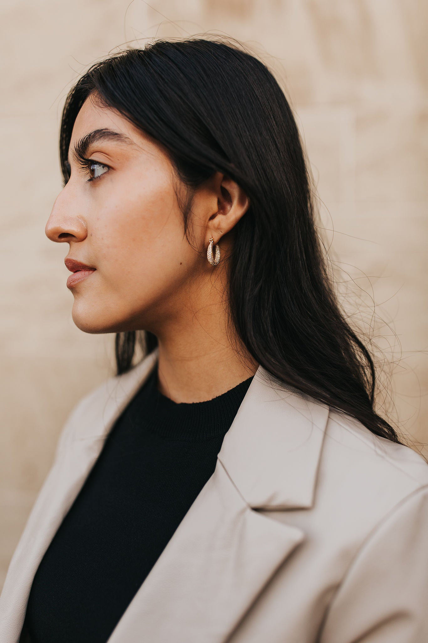 Paved Gold Hoops