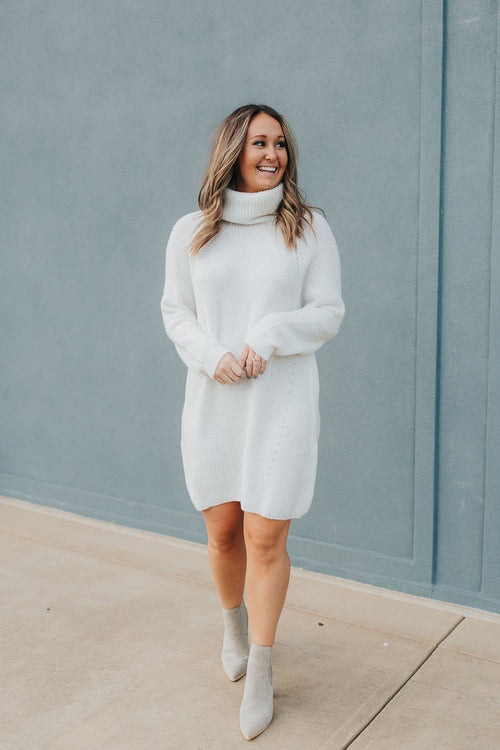Sarah Sweater Dress - White