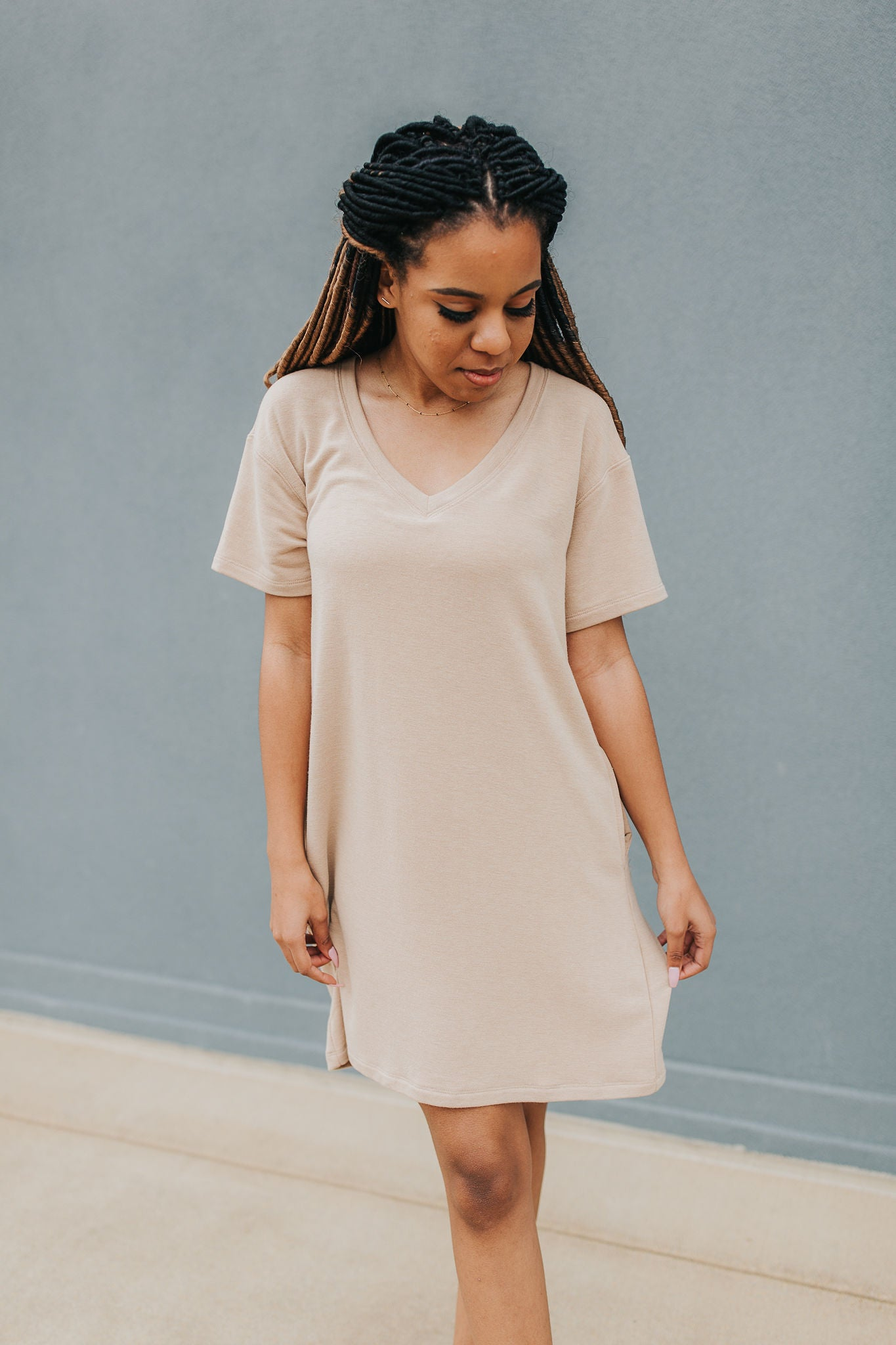 The Weekend Getaway Dress - Sand