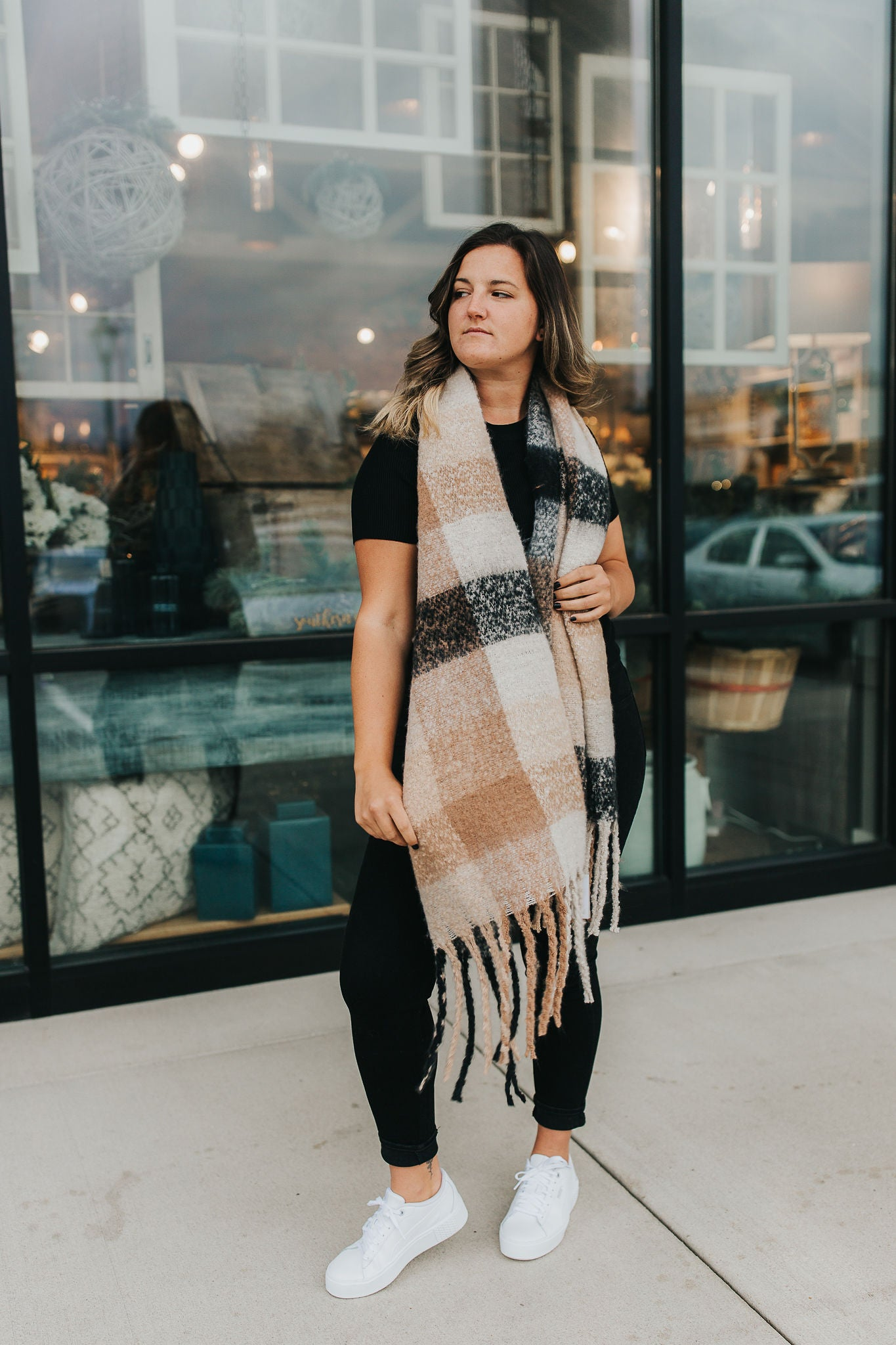 Carlette Plaid Scarf