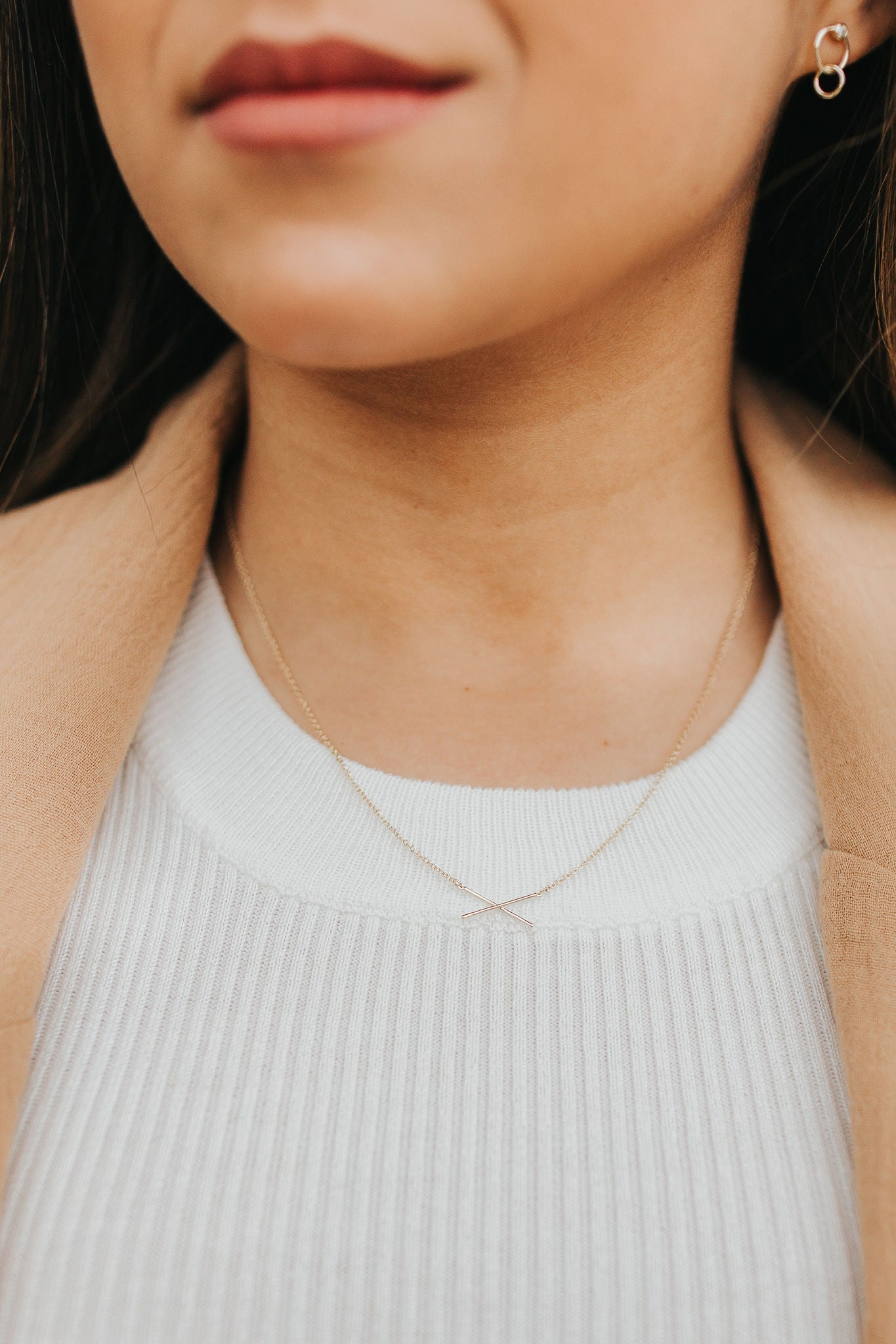 Criss Cross Necklace - Gold