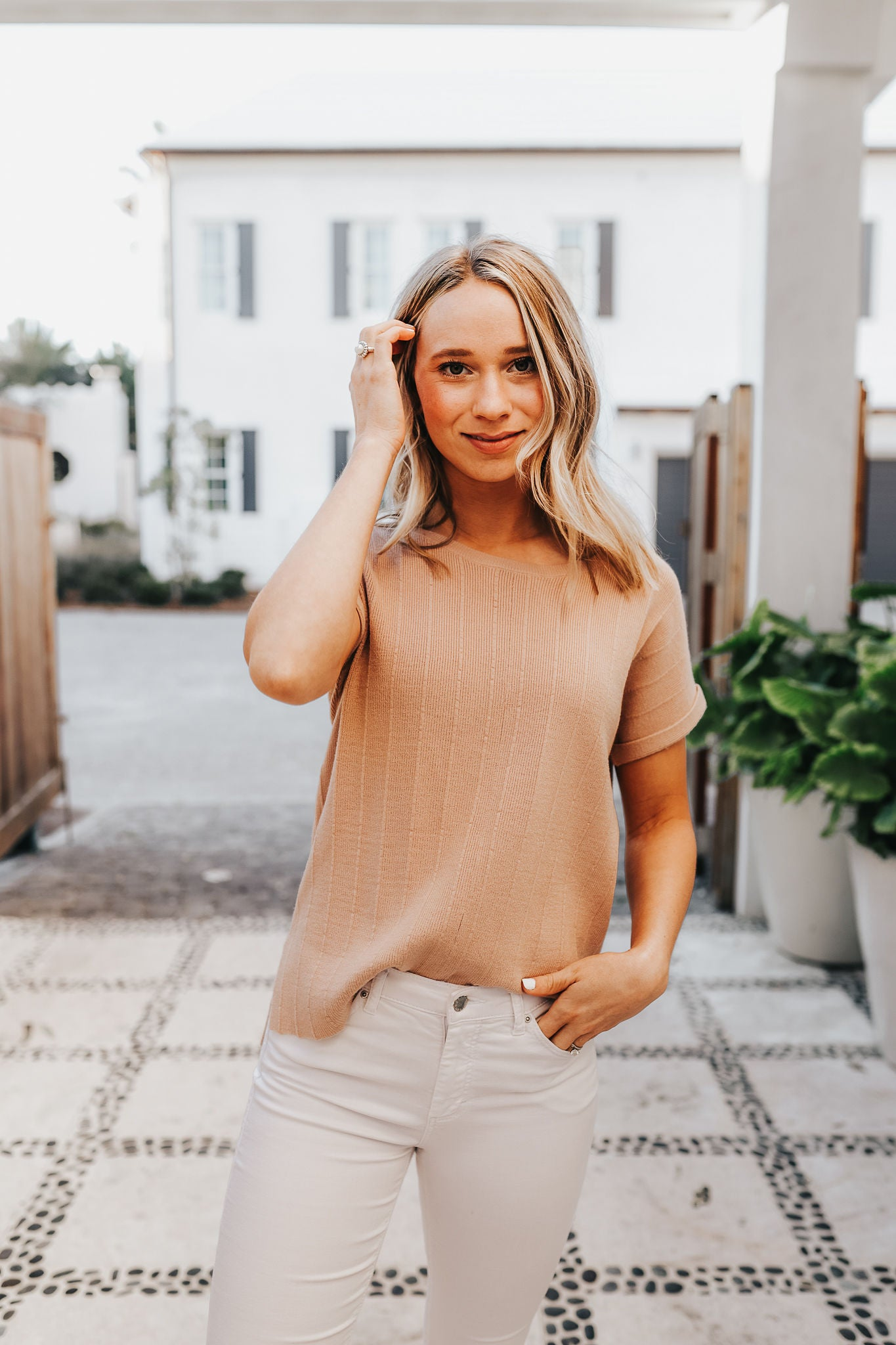 Monica Knit Top - Taupe