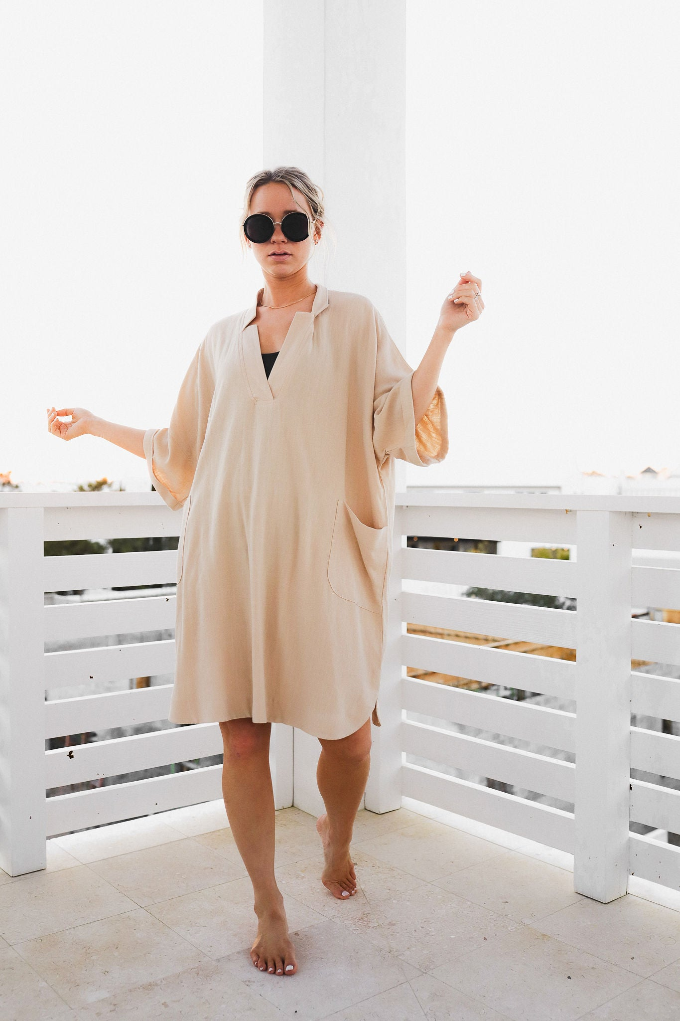 Flanery Linen Shirt Dress
