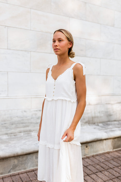 Lany Ruffle Midi Dress
