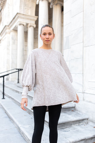 Hailey Relaxed Top - Champagne