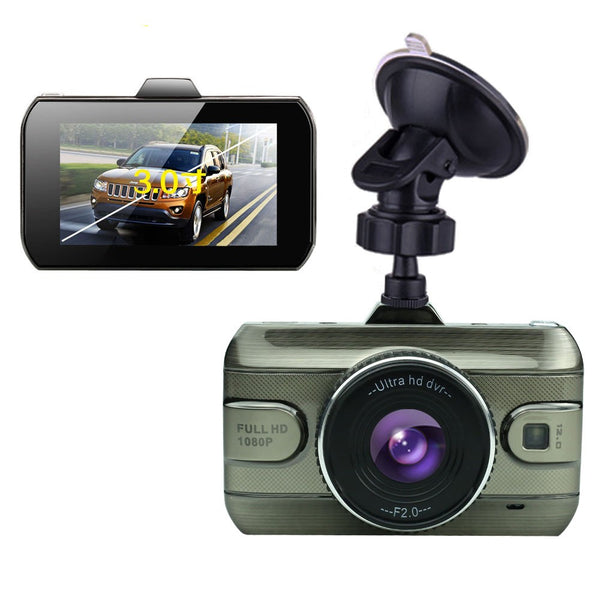 Podofo 2017 3 inch Dual Lens Dashcam Full 1080p HD