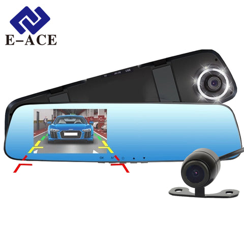 E-ACE HD 1080P DVR Camera Mirror With Dual Lens