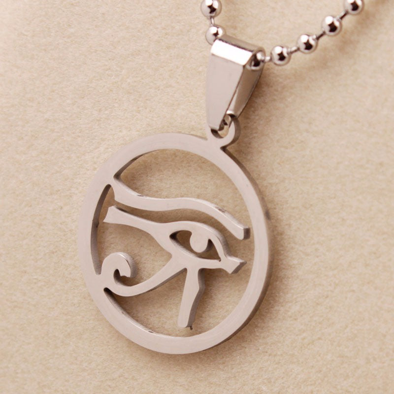 Stainless Steel Eye of Horus Eye Necklace