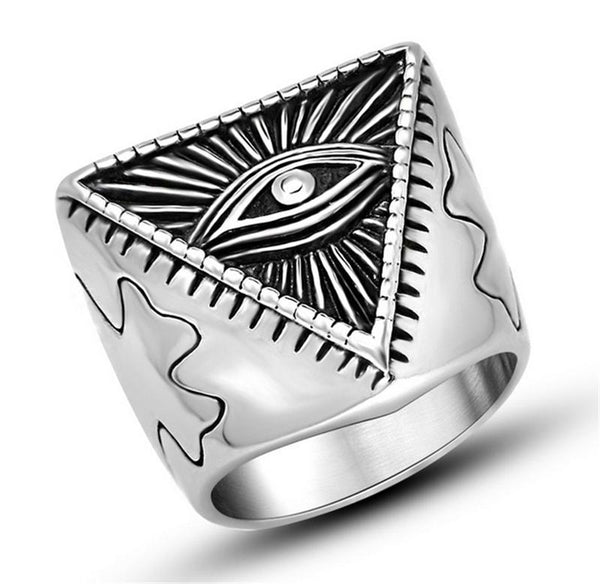 Men's Pyramid Ring