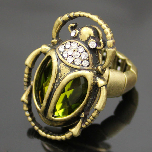 Gold Scarab Ring