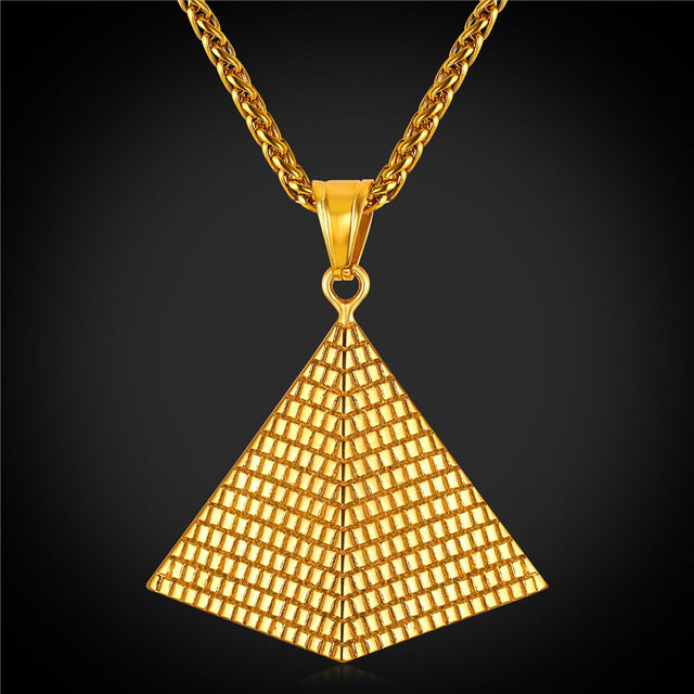 egyptian horus evil gold necklaces eye categories pendant white all seeing of with necklace egypt pyramid pendants