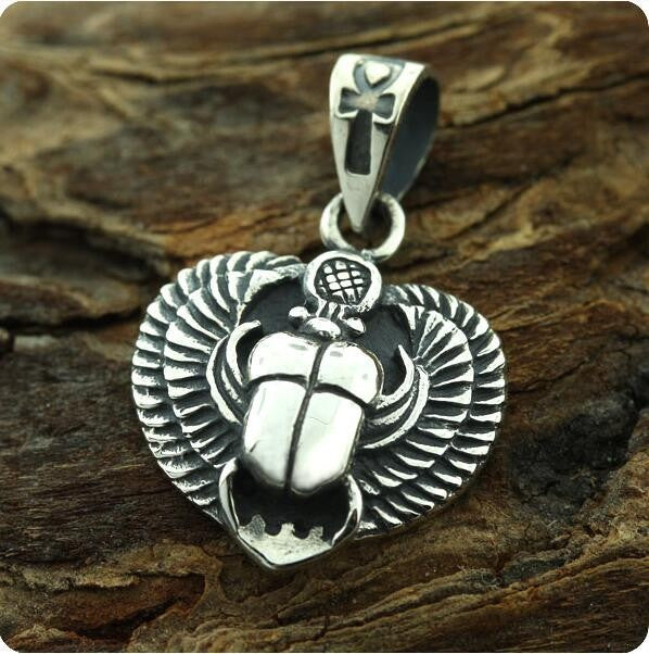 Silver Beetle Necklace
