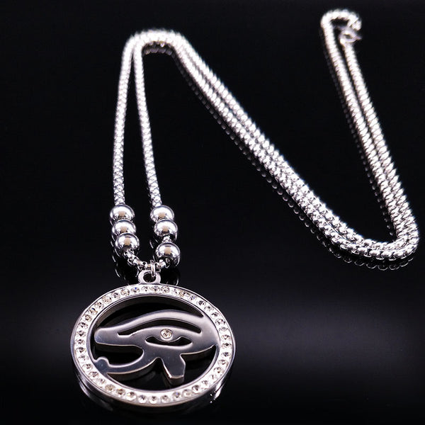 Stainless Steel Egyptian Eye Necklace