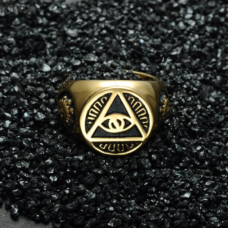 Stainless Steel Pyramid Ring