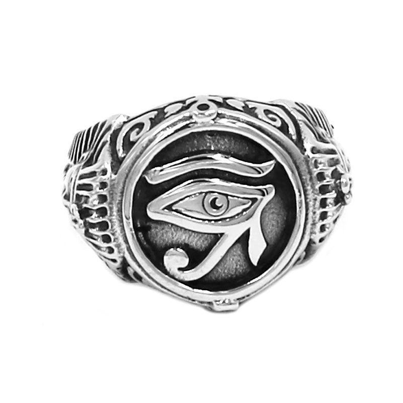 Eye of Horus and Pharaoh Ring
