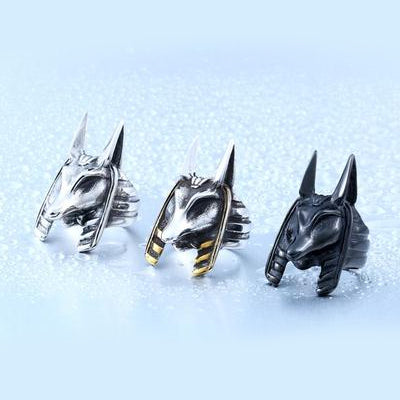 Stainless Steel Anubis Rings
