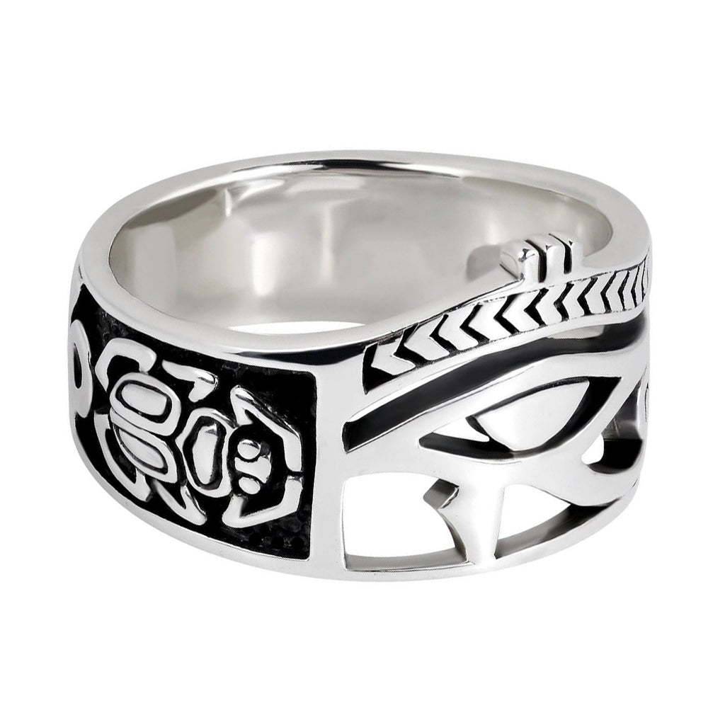 Sterling Silver Egyptian Beetle Ring