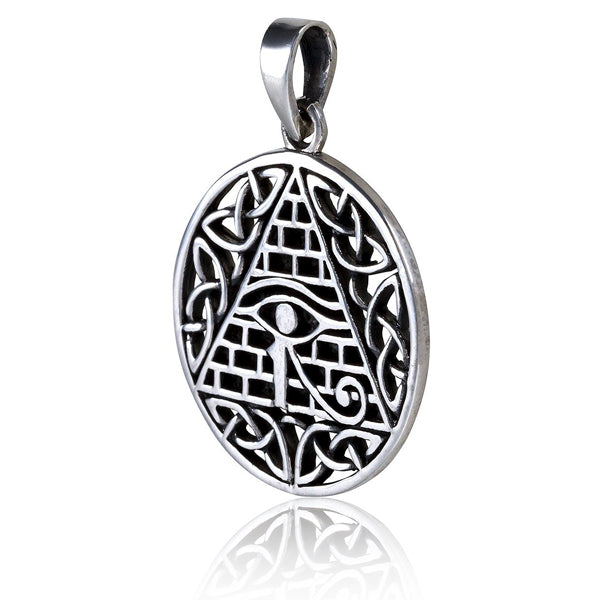 Sterling Silver Celtic Pyramid Necklace