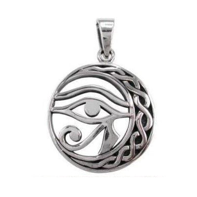 Sterling Silver Eye of Horus Celtic Pendant