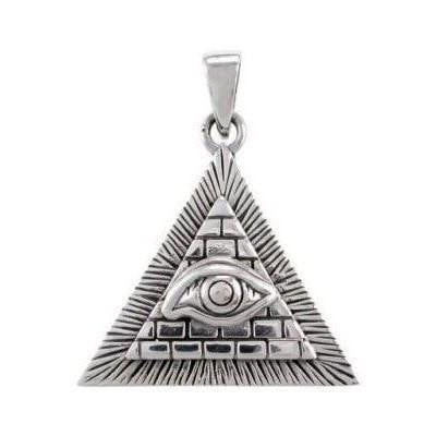 Sterling Silver Shining Pyramid Pendant