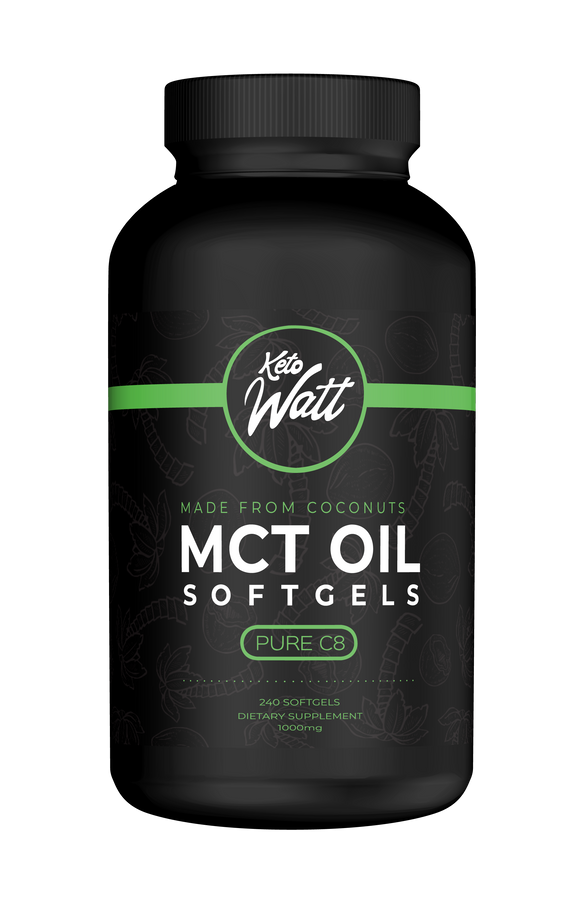 240 MCT Oil Softgels - 100% C8