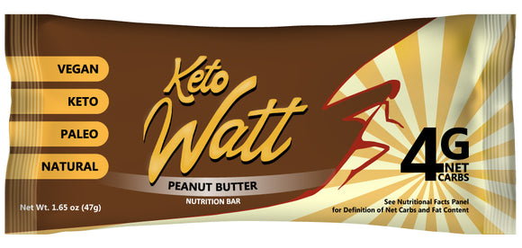 Sample of KetoWatt Peanut Butter keto bars