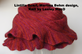 Lintilla Scarf, Touch C10, Martina Behm, knit by Lesley MacD