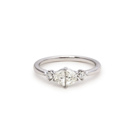 Modern Link diamond Ring