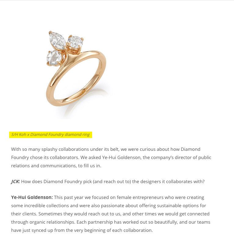 JCK Magazine - Oct'18 : Diamond Foundry X AU showroom(S/H KOH)